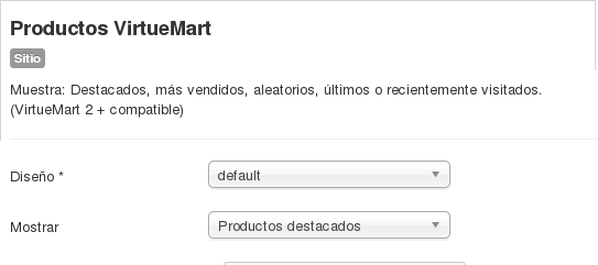 Mod virtuemart productos